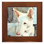 White Shepherd Framed Tile