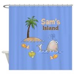 Kids Island Shower Curtain