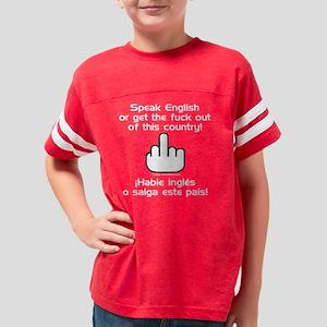 Speak English (Dark) Youth Football Shirt