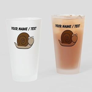 Custom Cartoon Snail Drinking Glass