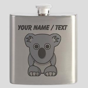 Custom Cartoon Koala Flask