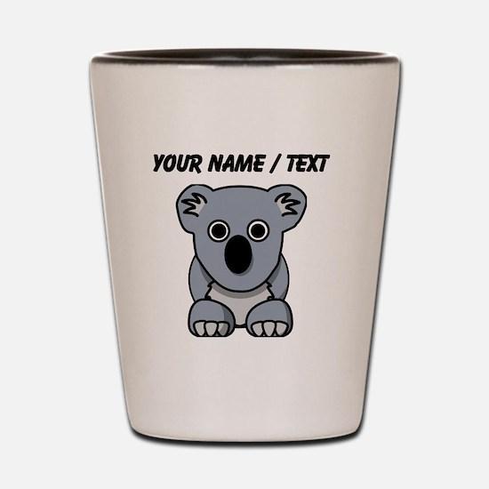 Custom Cartoon Koala Shot Glass
