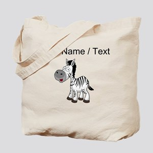 Custom Cartoon Zebra Tote Bag