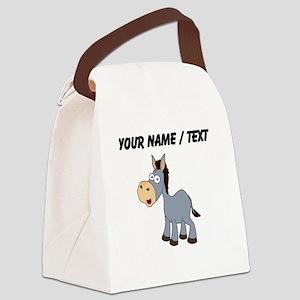 Custom Cartoon Donkey Canvas Lunch Bag