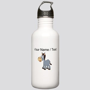 Custom Cartoon Donkey Sports Water Bottle