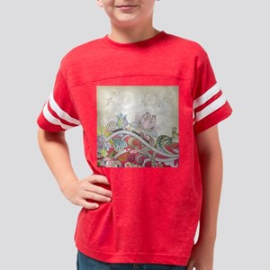 Vintage Floral Pattern Youth Football Shirt