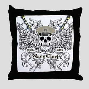 Chief wingskull Throw Pillow
