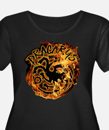 GOT Dracarys Flames Plus Size T-Shirt