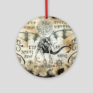 Dragon Runes Round Ornament