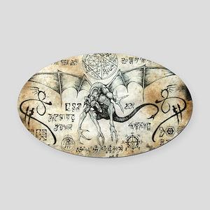 Dragon Runes Oval Car Magnet