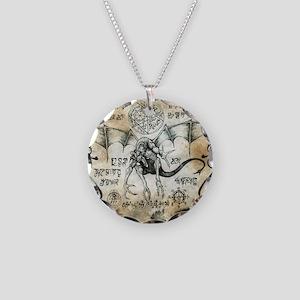 Dragon Runes Necklace Circle Charm