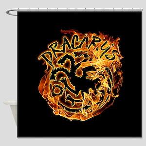 GOT Dracarys Flames Shower Curtain