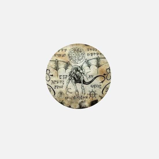 Dragon Runes Mini Button
