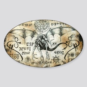 Dragon Runes Sticker (Oval)