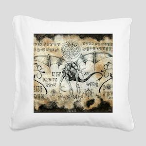 Dragon Runes Square Canvas Pillow
