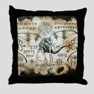 Dragon Runes Throw Pillow
