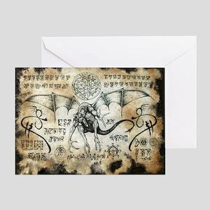 Dragon Runes Greeting Card
