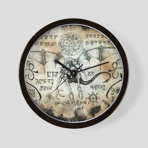 Dragon Runes Wall Clock