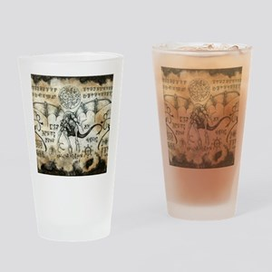 Dragon Runes Drinking Glass