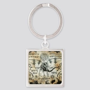 Dragon Runes Square Keychain