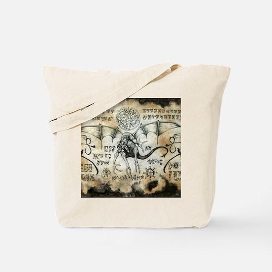 Dragon Runes Tote Bag