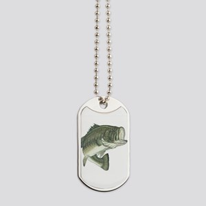 large mouth bass Dog Tags