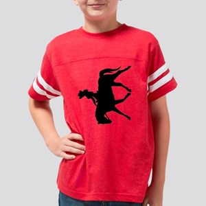 sexy cowgirl riding horse bla Youth Football Shirt