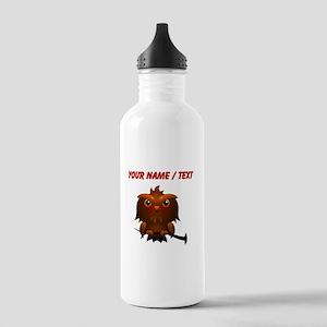 Custom Cartoon Owl Sports Water Bottle
