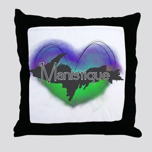 Aurora Manistique Throw Pillow