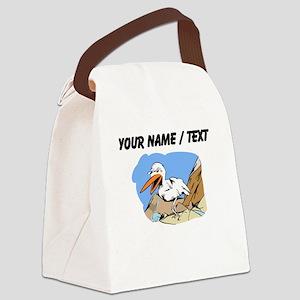 Custom Pelican Canvas Lunch Bag