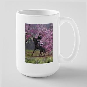 dressage horse 8x11 Stainless Steel Travel Mugs