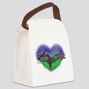 Aurora Eagle Harbor Canvas Lunch Bag