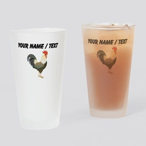 Custom Rooster Drinking Glass