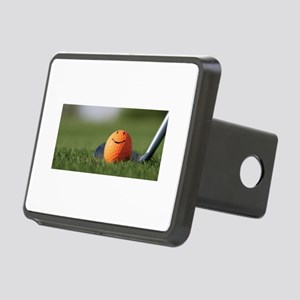 golf smiley Rectangular Hitch Cover