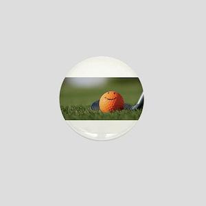 golf smiley Mini Button