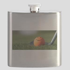 golf smiley Flask