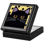 Black CAT With Polka Dots Keepsake Box
