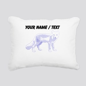 Custom Arctic Fox Rectangular Canvas Pillow