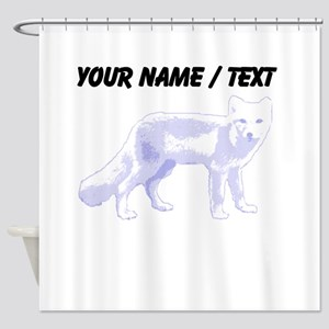 Custom Arctic Fox Shower Curtain