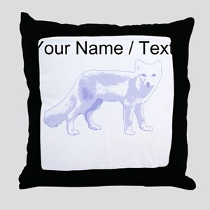 Custom Arctic Fox Throw Pillow