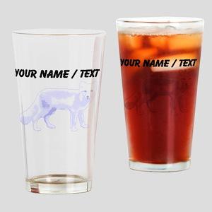 Custom Arctic Fox Drinking Glass