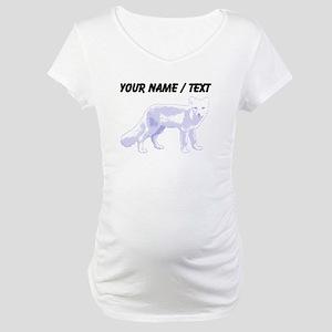 Custom Arctic Fox Maternity T-Shirt