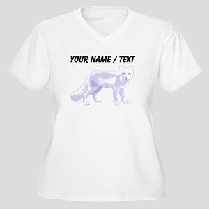 Custom Arctic Fox Plus Size T-Shirt