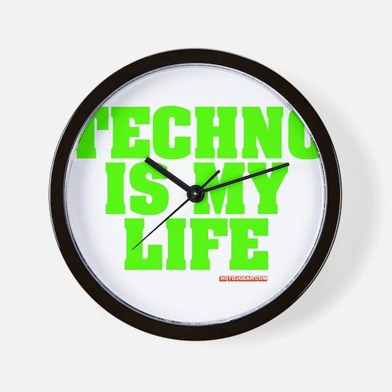 Techno Is My Life Wall Clock