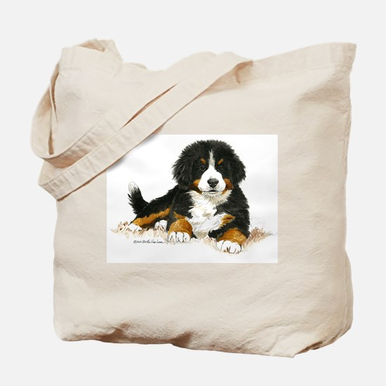 Bernese Mountain Dog Bright Eyes Tote Bag