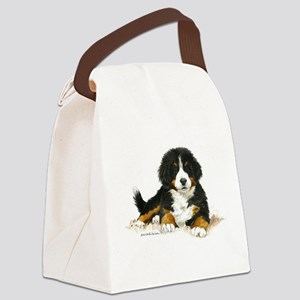 Bernese Mountain Dog Bright Eyes Canvas Lunch Bag