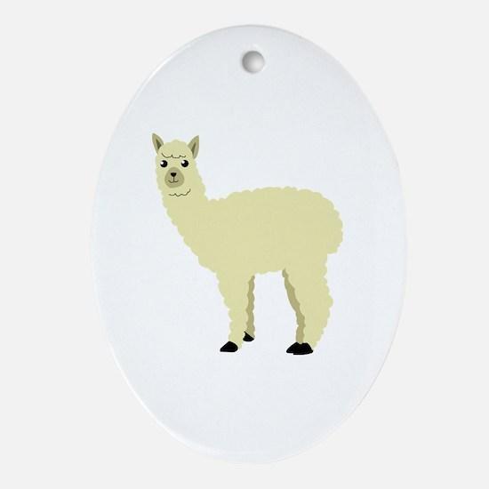 Unique Alpaca Oval Ornament