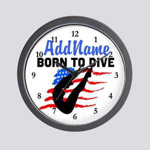 AWESOME DIVER Wall Clock