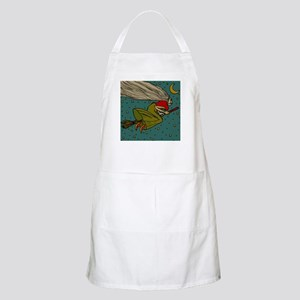 Vintage Halloween Witch Flying Apron