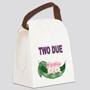 DOUBLE BLESSING-TWIN GIRLS Canvas Lunch Bag